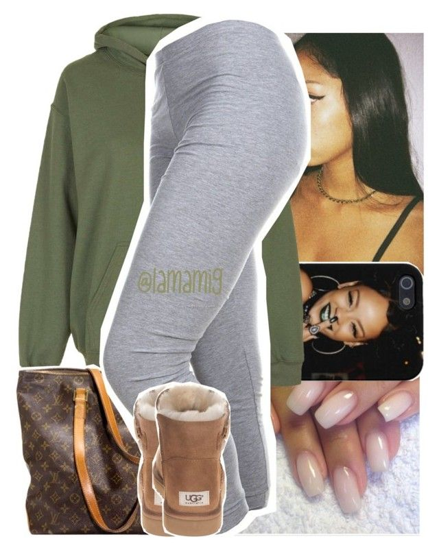 """""""needed me~rihanna"""" by lamamig ❤ liked on Polyvore featuring Topshop, Louis Vuitton, UGG Australia, women's clothing, women, female, woman, misses and juniors"""