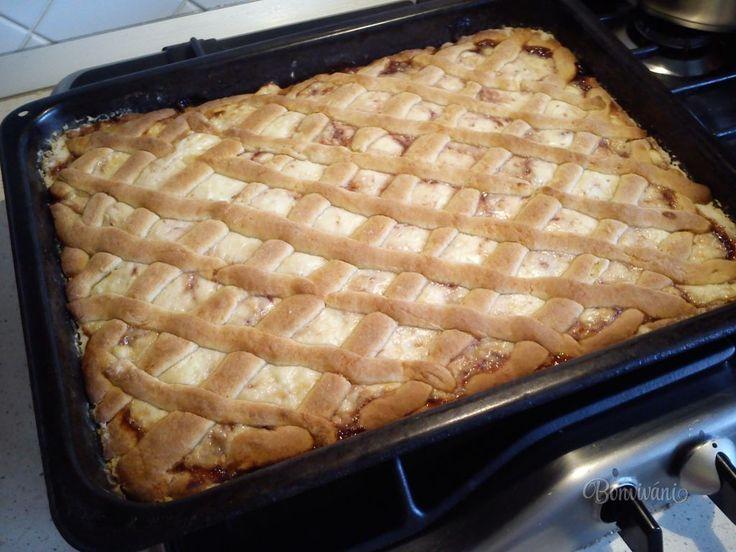 Vynikající mřížkový koláč bez vážení, s náplní dle chuti - tvarohovou, marmeládovou, povidlovou atd.