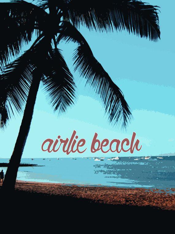 Airlie Beach - Australia travel poster on Etsy