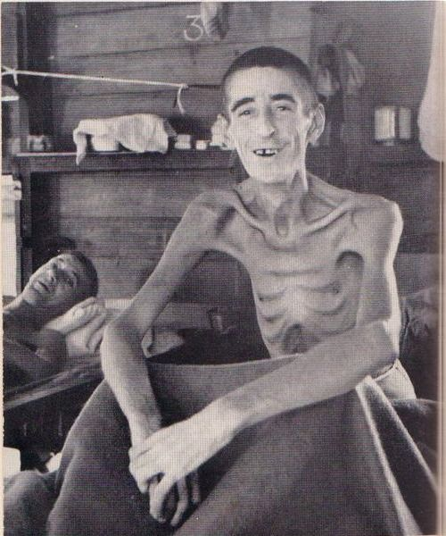This is John Sharp of Leicester and he is one of the few POWs of the Second World War to survive such extreme treatment under the Japanese. Sharp was captured while attempting to escape when being used as slave labor on the Burma-Siam railway. His punishment for being caught was being tortured for three years and two weeks in a Singapore gaol, where he spent twelve months in solitary confinement with little to no food.