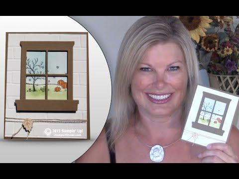 How to make a window card with Stampin Up's Hearth & Home Framelits & Brick Wall - YouTube