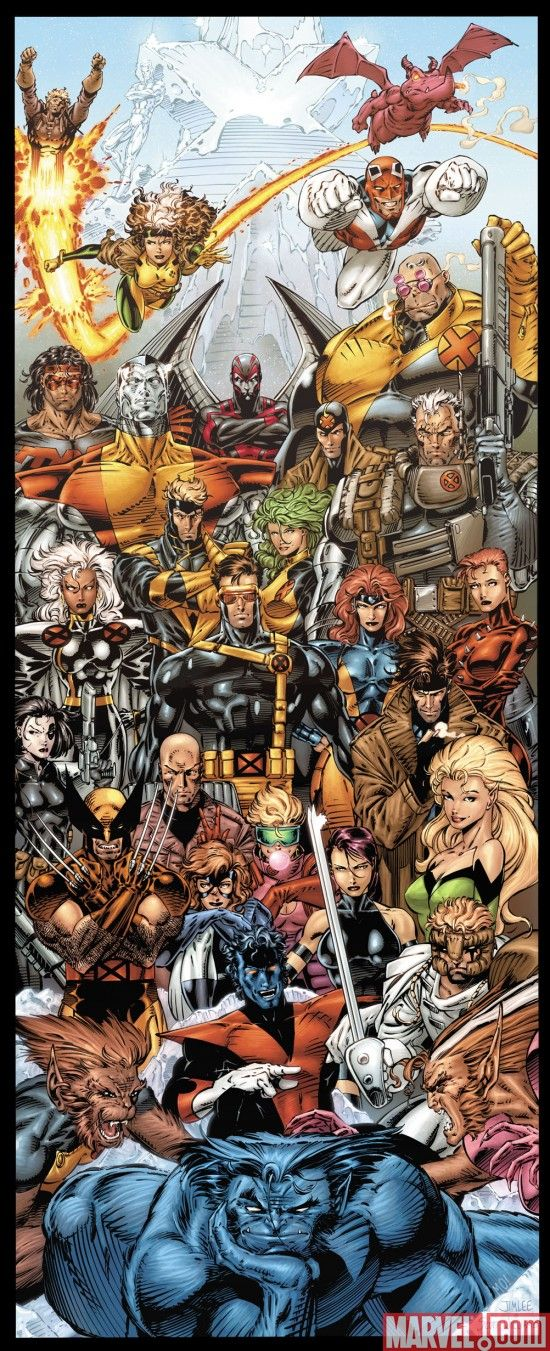 Door poster from X-MEN #1. Art by Jim Lee and Scott Williams.