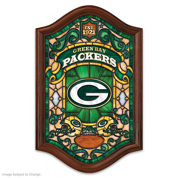 Green Bay Packers Stained Glass Wall Decor Like and Repin. Thx Noelito Flow…