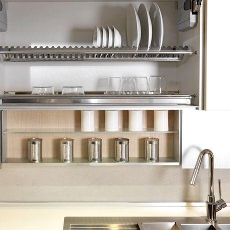 Vendita di accessori per cucina TECNOINOX. Scolapiatti inox per pensile, portarifiuti inox..., con il miglior servizio dei professionisti dell'arredamento