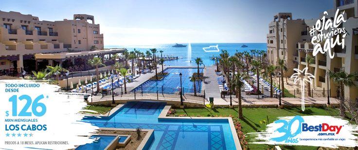 El Riu Santa Fe es un exclusivo resort Todo Incluido, está localizado en la playa El Médano, frente al Mar de Cortés en Los Cabos. El hotel se encuentra decorado con una arquitectura estilo mediterráneo, es ideal para unas vacaciones familiares o para una escapada romántica. Cuenta servicio de spa, club de niños, piscinas, jacuzzi, gimnasio y 5 restaurantes. #BestDay #OjalaEstuvierasAqui