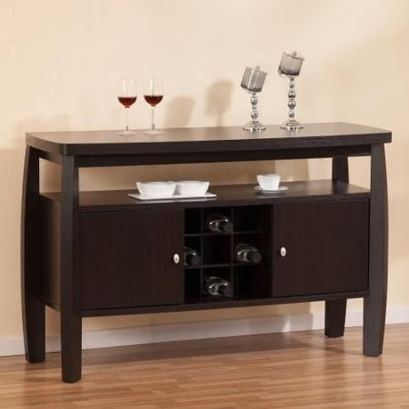Furniture Of America Nova Dining Buffet Table With 9 Bottle Rack
