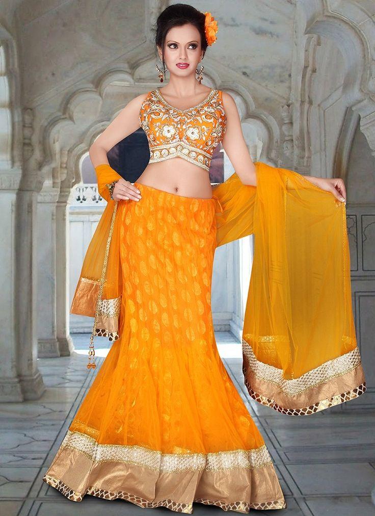 Yellow Net Bridal Lehenga Choli #Lehenga #LehengaCholi #WeddingDress #BridalWear #BridalLehengaCholi #OnlineShopping #LehengaCholiOnline