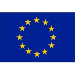 Achetez le Drapeau Europe Le #drapeau #européen est le symbole de l'Union européenne Le cercle d'étoiles dorées est censé représenter la solidarité et l'harmonie entre les peuples d'Europe.  En tissu, maille 100% polyester 115 g/m², ourlé sur 3 côtés, https://www.drapazur.com/drapeau-europe/2-drapeau-europe-5075-cm.html