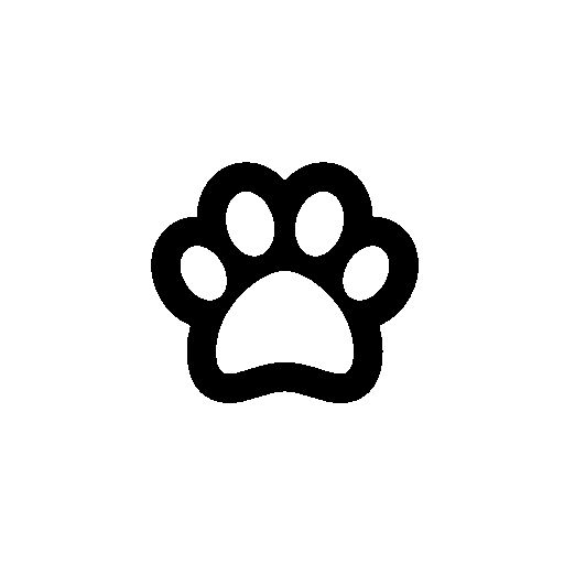 Dog footprint outline free icon