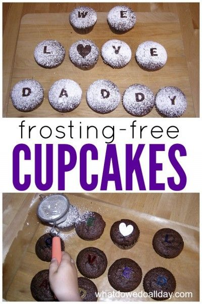 Perfect for Father's Day!! How to write a cupcake message without frosting.