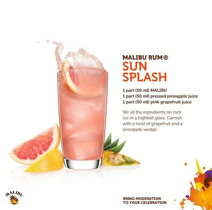 Malibu Rum Sun Splash #drinks #cocktails #drinkrecipes