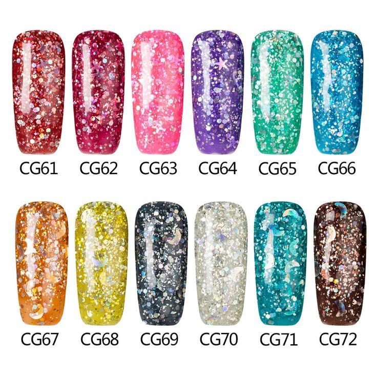 Azure Glitter Nail Gel Art UV Nail Gel Polish Long-lasting Led UV Gel Nail Varnish Soak Off Hot Colorful Nail Gel Lacquer