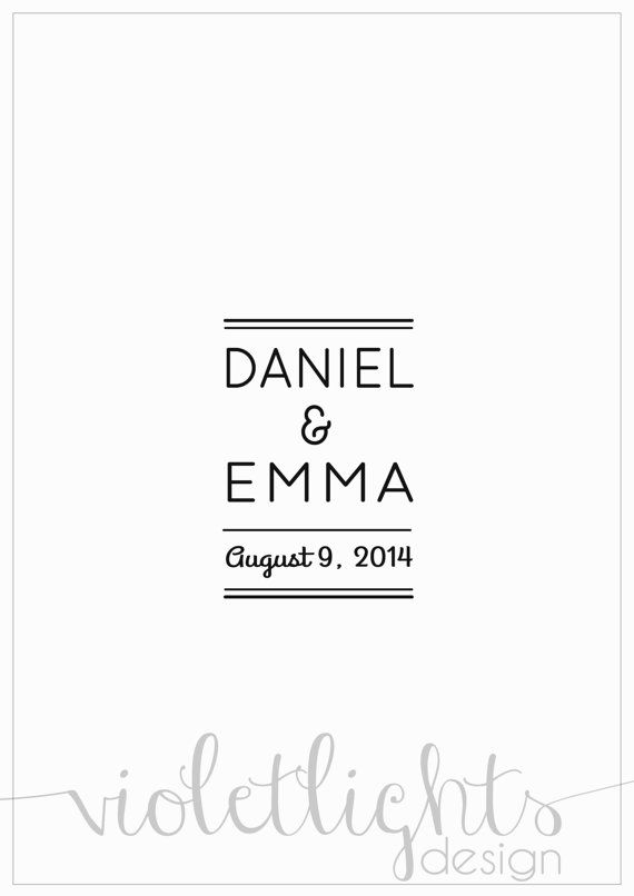 Minimalist Wedding Guestbook Page  Physical by VioletLightsDesign, $40.00