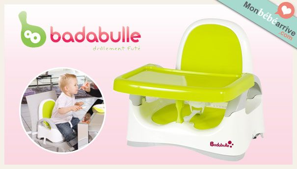 Le rehausseur de table Badabulle http://www.monbebearrive.com/le-rehausseur-de-table-badabulle/