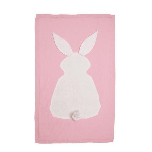 Kids Rabbit Knitting Blanket Bedding Quilt Play