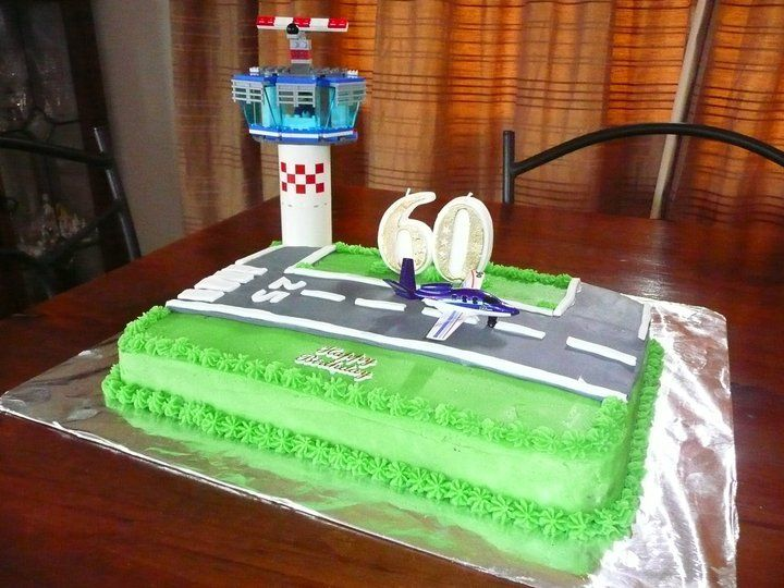Dad S 60th Birthday Airport Runway Cake Airplane