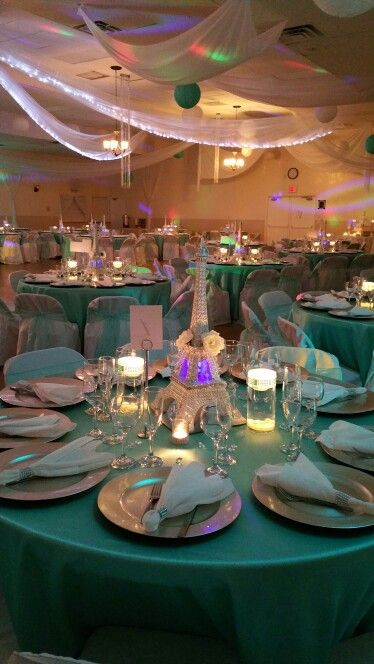 Tiffany Blue / Paris Theme  Quinceañera Decor By Alyssa EventDecorator