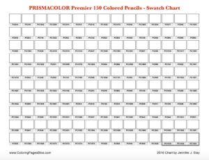 charte de couleur prismacolor premier 150 1 page