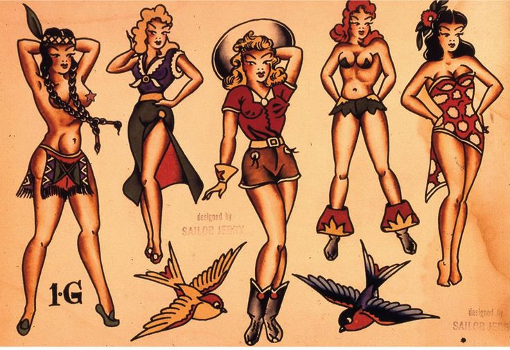 Tattoo Designs Flash Book & Gallery - Sailor Jerry