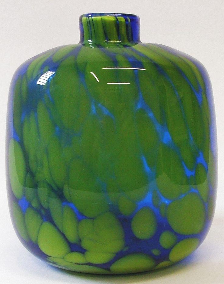 Vase, 1970s, glassworks Prachen - Borske sklo, Czechoslovakia