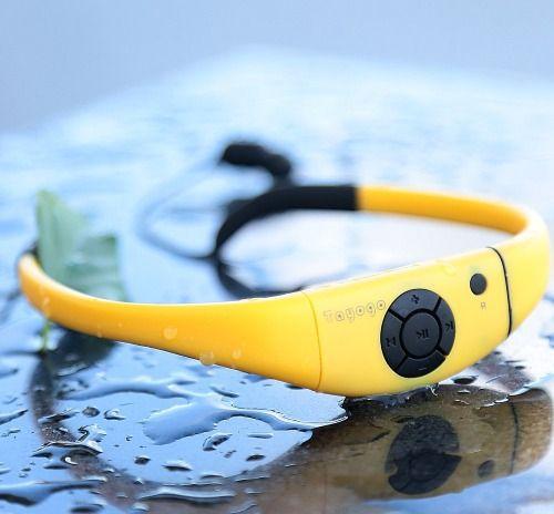 Tayogo 2014 Verbesserte Wasserdichte MP3-Headset Musik-Player, 8 GB Speicher Hallo-Fi Stero, Kopfhörer mit UKW-Radio für Schwimmen, Surfen, Laufen, Sport, Preisgekröntes Design,