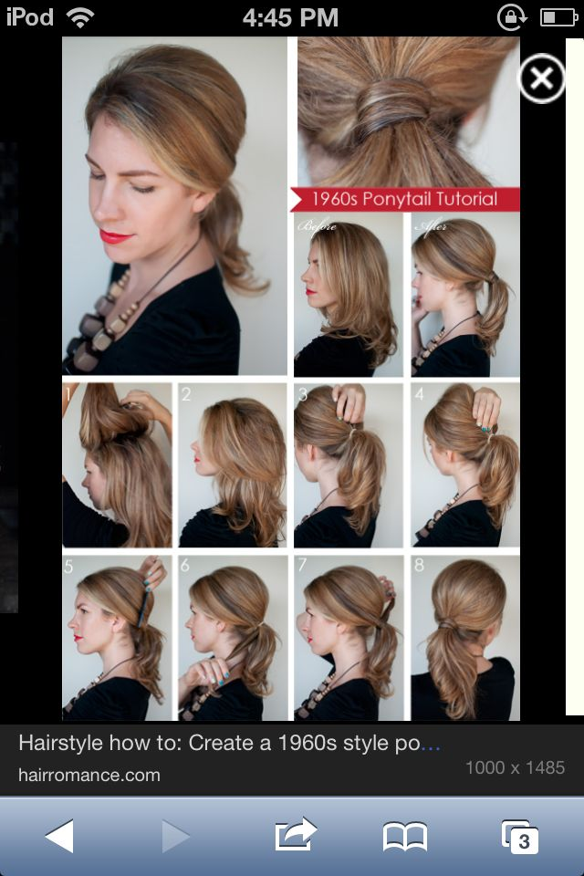 Best Vintage Hair Modern Girls Images On Pinterest Retro - Classic hairstyle tutorials