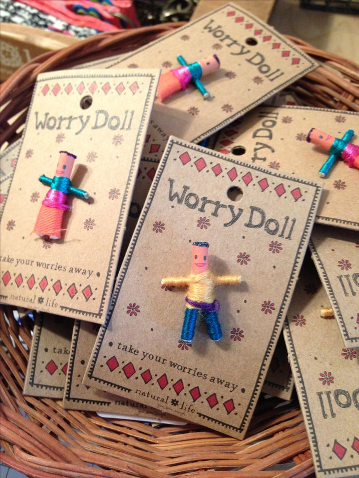 Worry dolls! Childhood memories! lol I've used quite a few of these over my lifetime! ^_^