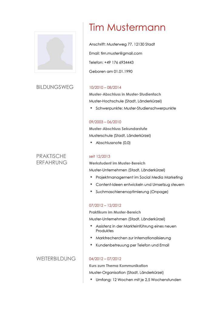 8 best Lebenslauf für Lina images on Pinterest | Cv resume sample ...
