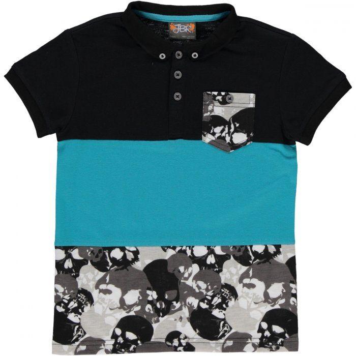 Skull colour block golfer Image 1