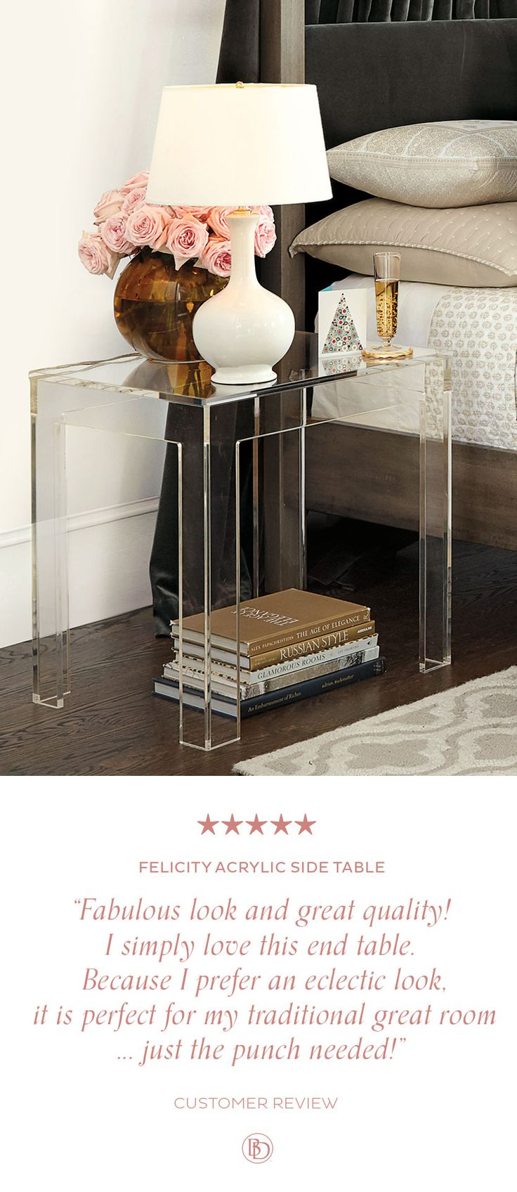 Felicity Acrylic Side Table