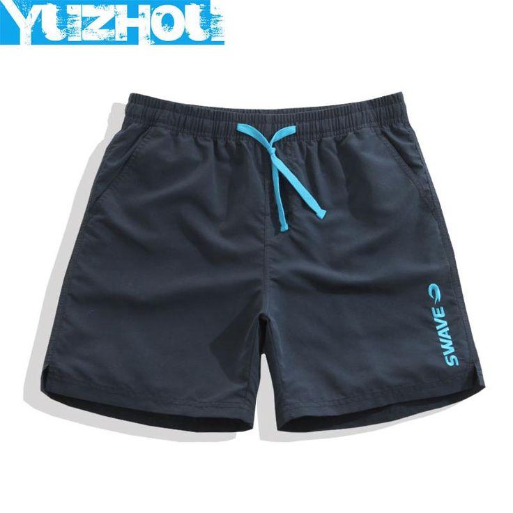 Yuzhou board shorts mens swimsuit solid sweat running joggers beach praia surfing swim loose boardshort surf bathing suit plavky