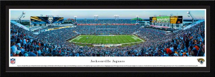 Jacksonville Jaguars Panoramic Picture Framed - EverBank Field