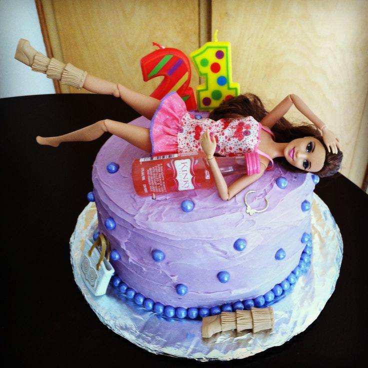 Images Of Birthday Cakes For Little Sister : 1000+ ideas about Drunk Barbie Cake on Pinterest 21st ...