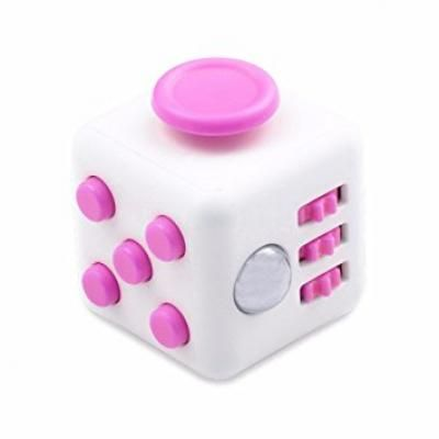 Image of Promotional Fidget Cube. Printed Fidget Box. Pink