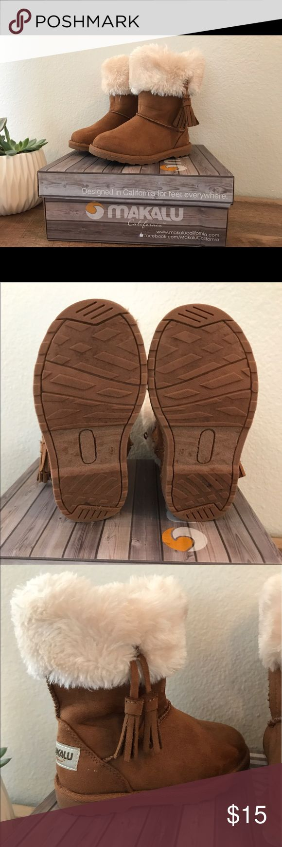 Makalu Toddler Girl Boots Brown Makalu Toddler Girl Boots. Size 8, side zipper fastening. Great condition. Makalu Shoes Boots