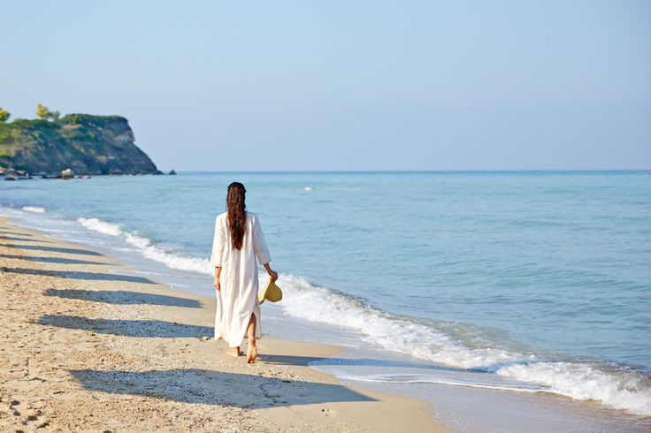 Enjoy 7 km of immaculate pine-fringed sands & crystal clear water, at Bousoulas beach, Sani Beach Resort in Halkidiki.