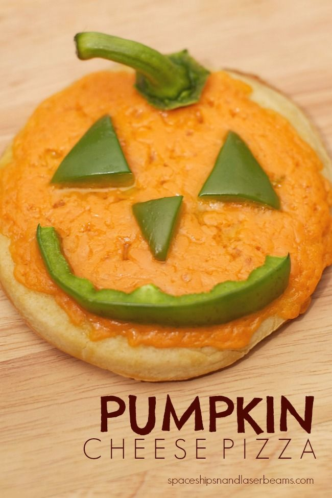 Kid's Party Food: Jack-O-Latern Pizza