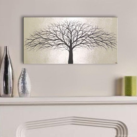 Gray Wall Art Home Decor Hangings Original Painting Modern Canvas Living Room Grey By ToddEvansArt