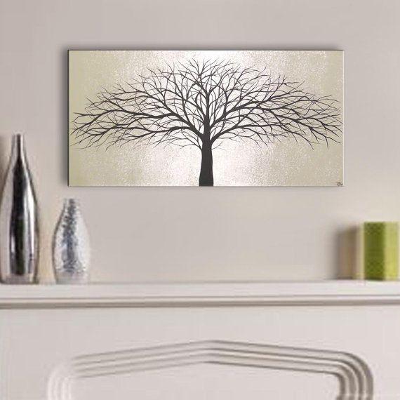 Gray Wall Art Home Decor Hangings Original Painting Modern Canvas Living Room Grey By ToddEvansArt