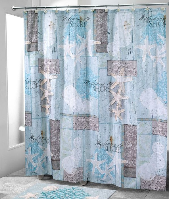 Beach Shower Curtain Welcome To The Shore Shower Curtain Shower