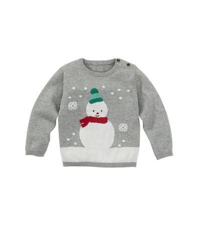 Favoriete kinder kerstkleding van blogger Foodinista. Baby kersttrui met sneeuwpop voor een klein prijs. Kijk voor info op de blog.