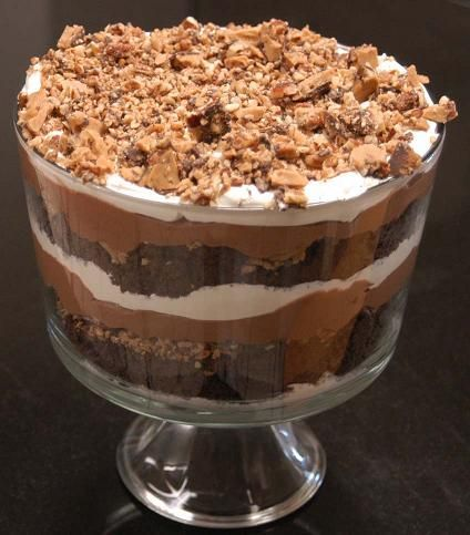 Heath Bar Brownie Trifle Recipe | Death By Chocolate Trifle