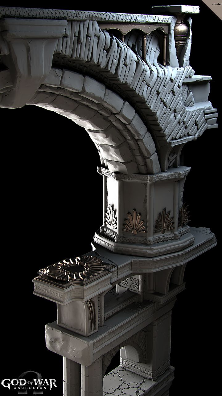 That rock! God of War Ascension- Highpoly Architecture