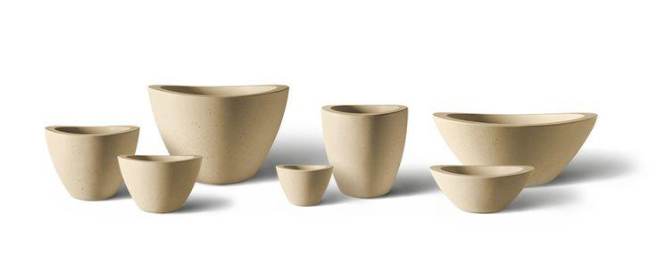Dune Series - Precast Concrete Planters Group