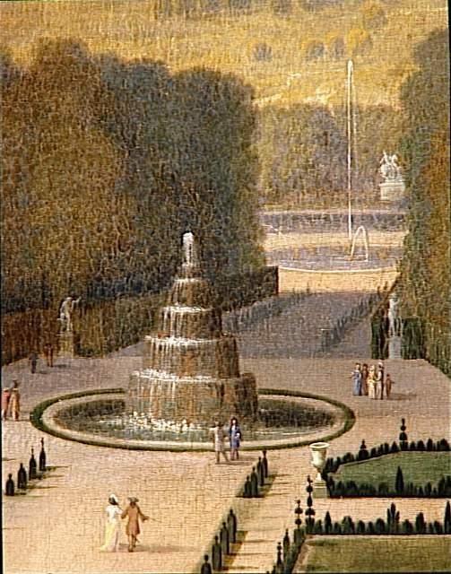 Etienne Allegrain | Promenade de Louis XIV en vue du Parterre du Nord dans les jardins de Versailles vers 1688 | Images d'Art