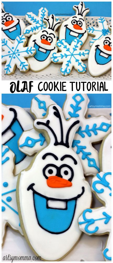 Olaf Cookie Recipe Tutorial - Frozen Birthday Party Idea