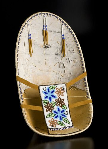 Birch Bark Baby Carrier by Margie A. Sparks, Athabascan (Upper Tanana) artist (Y81016) $1,225 CAD