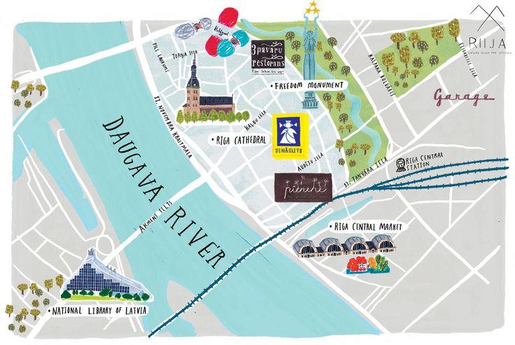grace lee - Map of Riga - Latvia