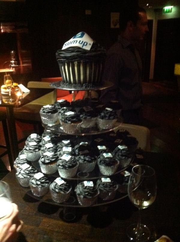 Dublin launch: A mountain of cup-cakes.