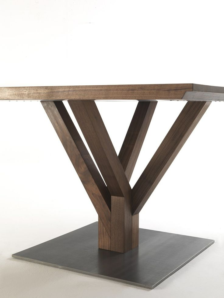 Square wooden #table PINOMUGO - Riva 1920 #wood @Riva Pollard Industria Mobili